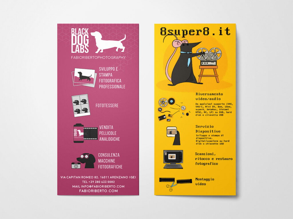 Black Dog Labs and 8super8 flyer